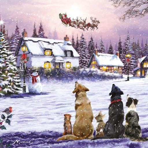 Charity Christmas Card Pack - Santa's Sleigh