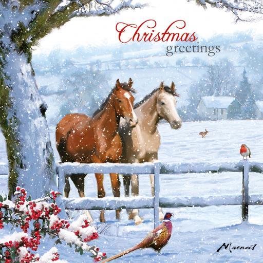 Charity Christmas Card Pack - Christmas Horses