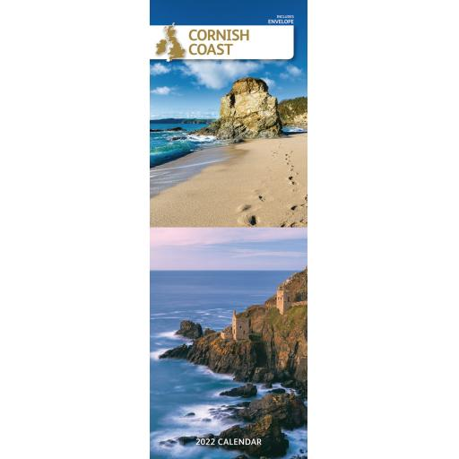 Cornish Coast Slim Calendar 2022