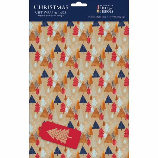 Christmas Wrap & Tags - Christmas Trees