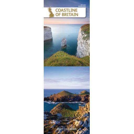 Coastlines of Britain Slim Calendar 2022