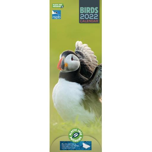 RSPB Birds Slim Calendar 2022 (PFP)