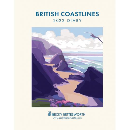 Becky Bettesworth British Coastlines Dlx Diary 2022