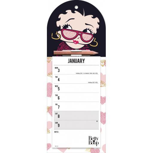 Betty Boop WTV Magnetic Calendar 2022