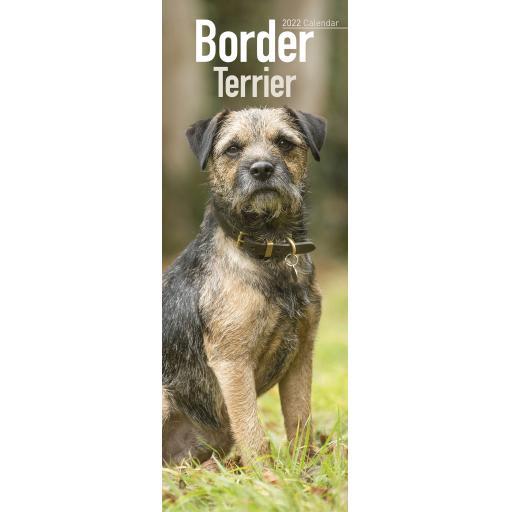Border Terrier Slim Calendar 2022