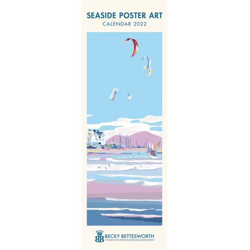 Becky Bettesworth Seaside Poster Art Slim Calendar 2022