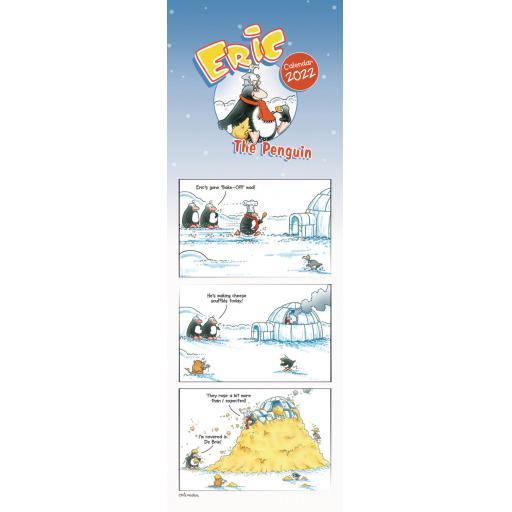 Eric The Penguin Slim Calendar 2022