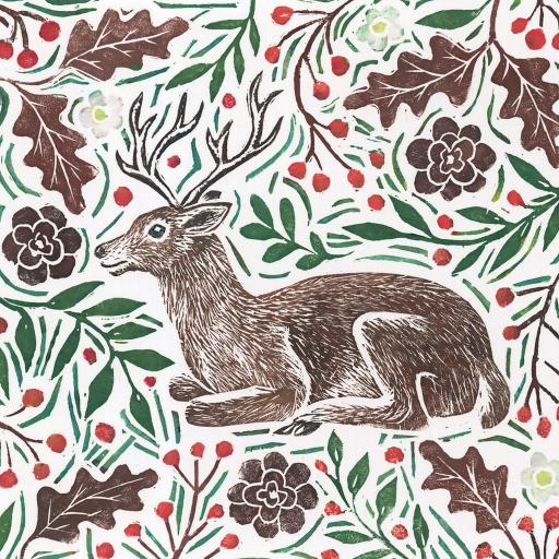 Charity Christmas Card Pack - Stag & Holly