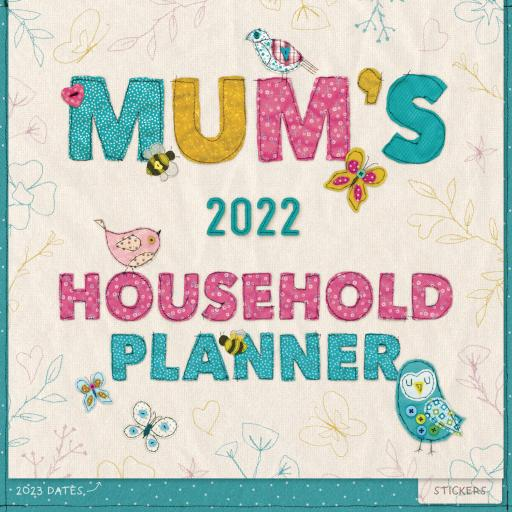 Mums Fabric Household Wall Planner 2022