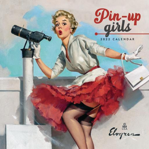 Pin Up Girls Mini Wall Calendar 2022