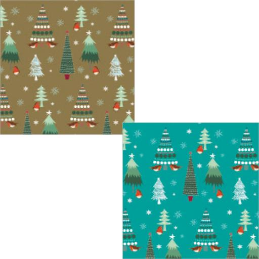 Christmas Wrap & Tags Bumper Pack - Little Trees
