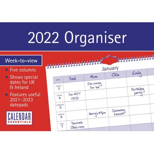 Essential Family Organiser WTV A4 Planner 2022