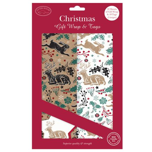 Christmas Wrap & Tags Bumper Pack - Stag & Hare