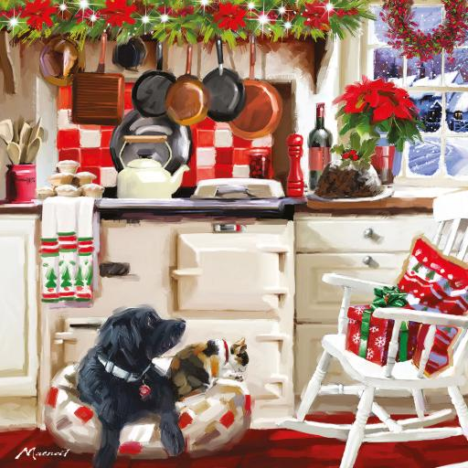 Charity Christmas Card Pack - Cosy Christmas Kitchen