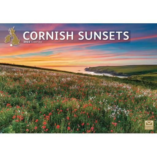 Cornish Sunsets A4 Calendar 2022