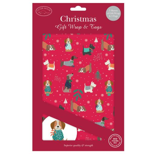Christmas Wrap & Tags - Dogs & Jumpers