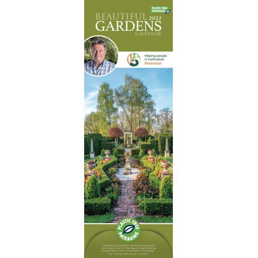 Alan Titchmarsh Beautiful Gardens Slim Calendar 2022