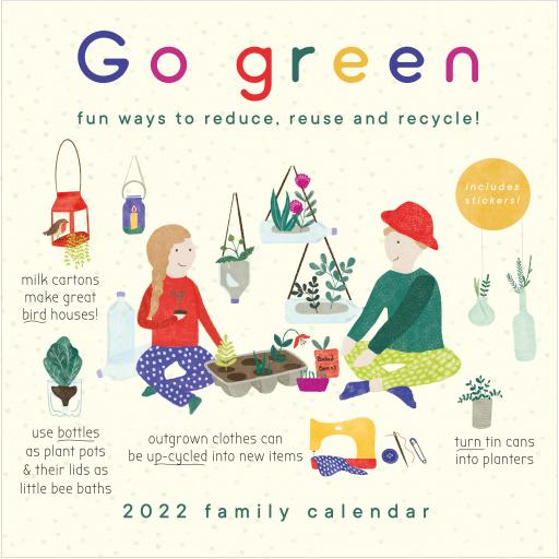 Go Green Wall Planner 2022