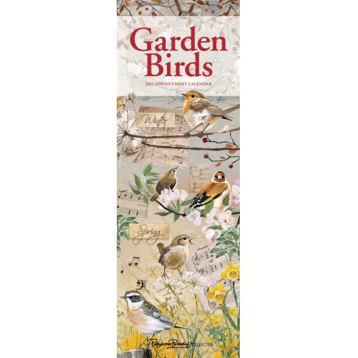 Garden Birds By Pollyanna Pickering Slim Calendar 2022