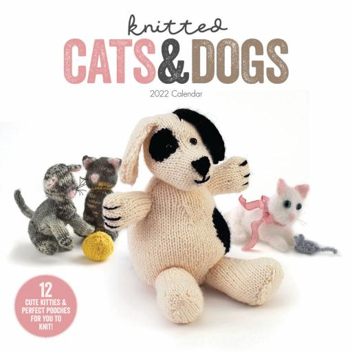 Knitted Cats & Dogs Wall Calendar 2022