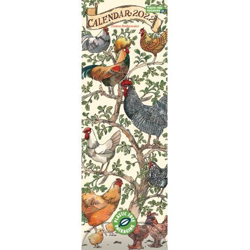 Emma Bridgewater Farmyard Birds Slim Calendar 2022 (PFP)