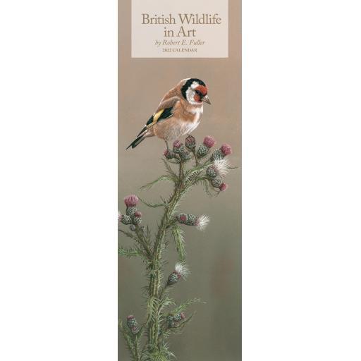 British Wildlife in Art By Robert Fuller Slim Calendar 2022