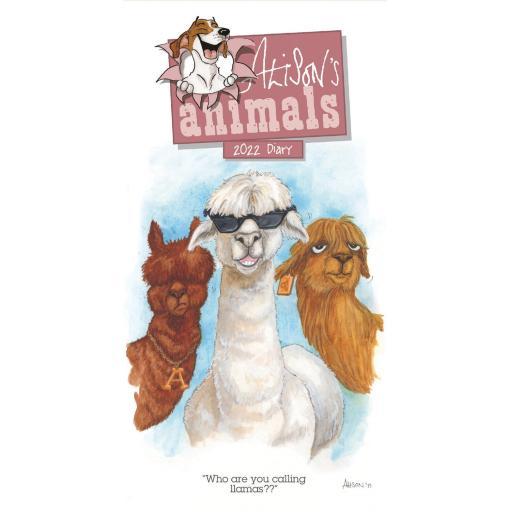 Alisons Animals Slim Diary 2022