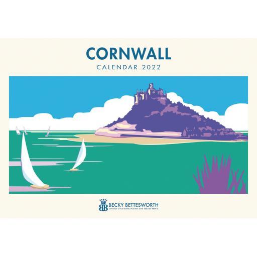 Becky Bettesworth Cornwall A4 Calendar 2022