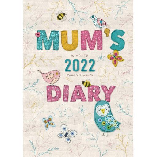 Mums Fabric Planner Egmt Diary 2022