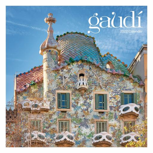 Antoni Gaudi Wall Calendar 2022