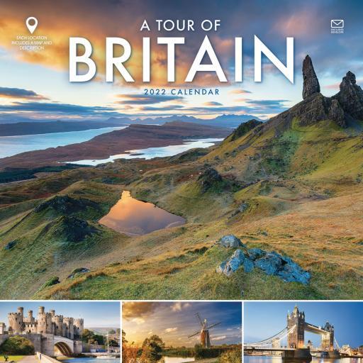 A Tour of Britain Wiro Wall Calendar 2022