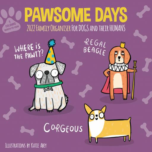 Pawsome Days Family Organiser Wall Planner 2022