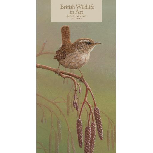 British Wildlife in Art By Robert Fuller Slim Diary 2022