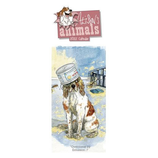 Alisons Animals Slim Calendar 2022