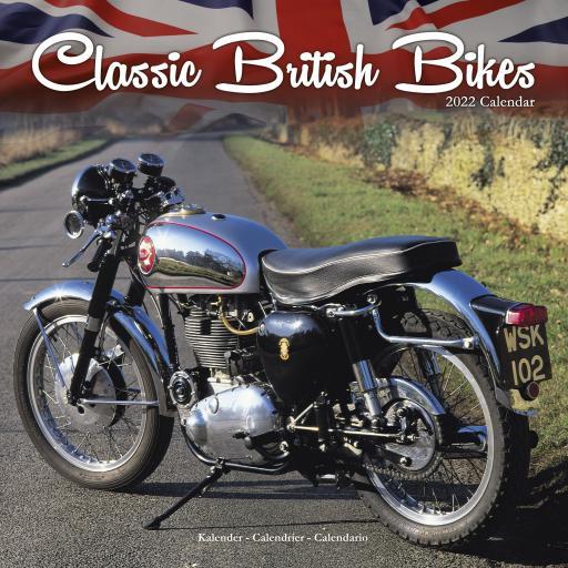 Classic British Bikes Wall Calendar 2022
