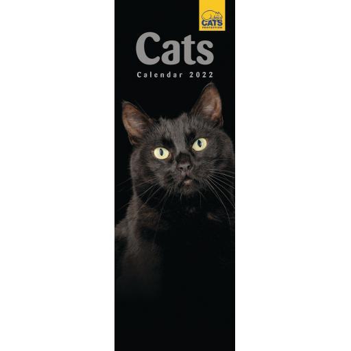 Cats Protection Slim Calendar 2022