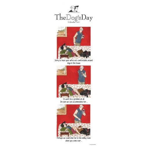 Tottering By Gently Dogs Day Slim Planner 2022