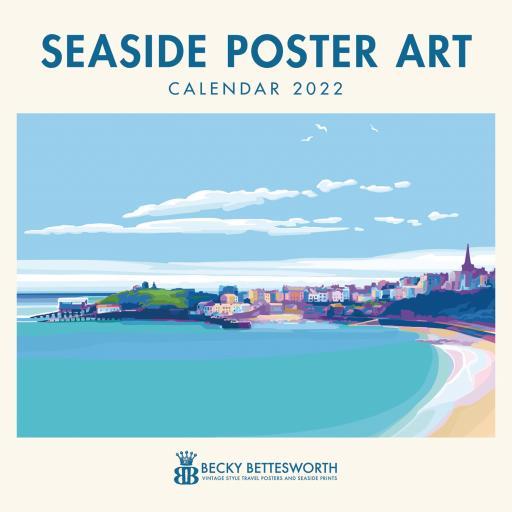 Becky Bettesworth Seaside Poster Art Wall Calendar 2022