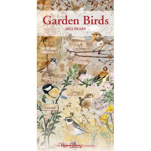 Garden Birds By Pollyanna Pickering Slim Diary 2022