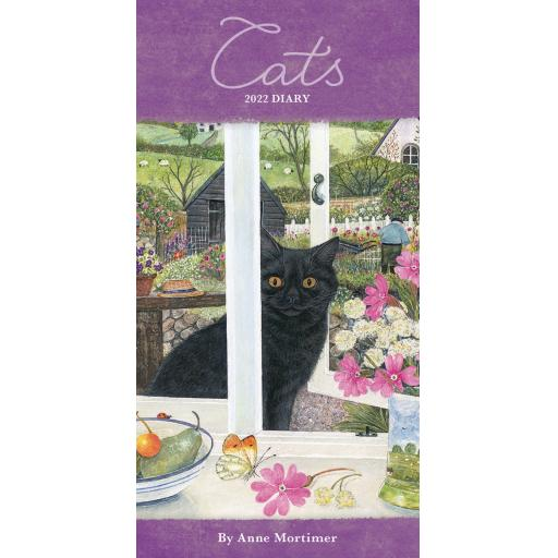 Cats By Anne Mortimer Slim Diary 2022