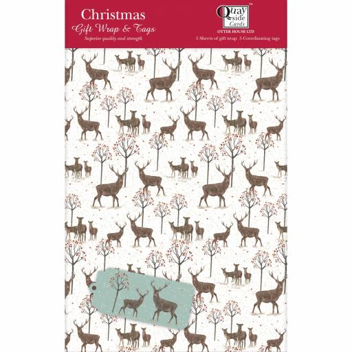 Christmas Wrap & Tags - Majestic Stag