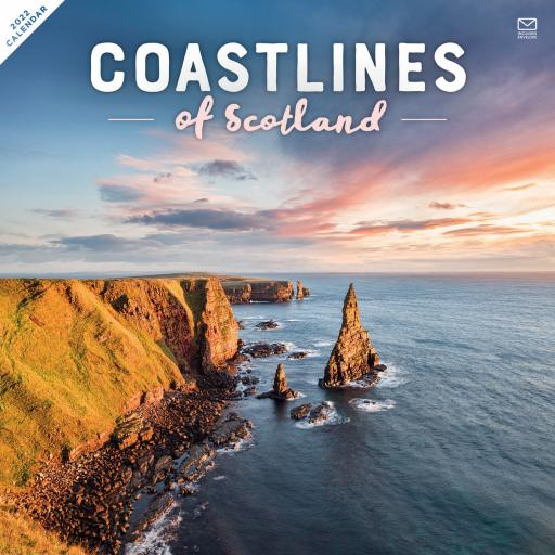 Coastline of Scotland Wall Calendar 2022