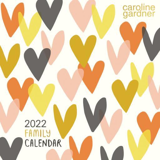 Caroline Gardner Hearts Wall Planner 2022
