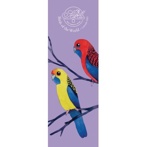 Matt Sewell Birds of The World Slim Calendar 2022