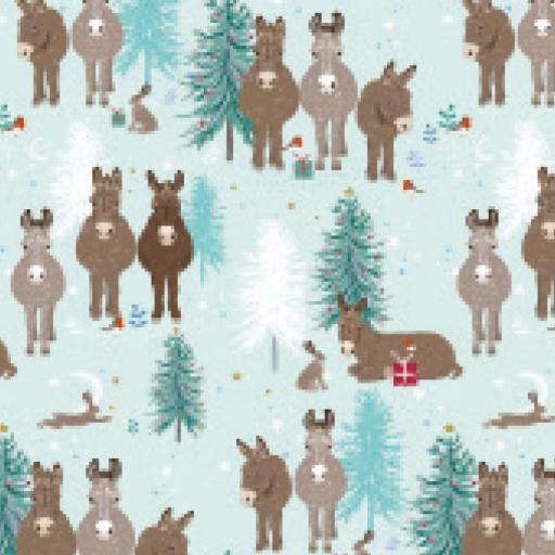 Christmas Wrap & Tags - Donkey & Friends