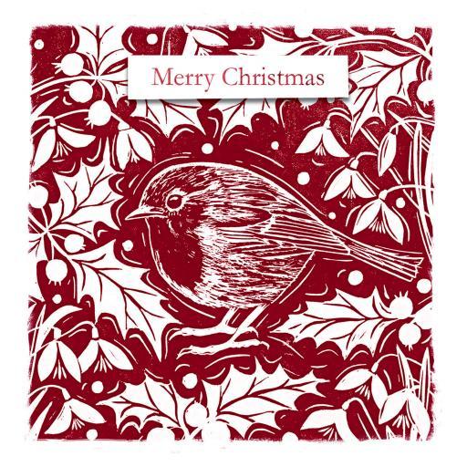 Charity Christmas Card Pack - Robin & Holly